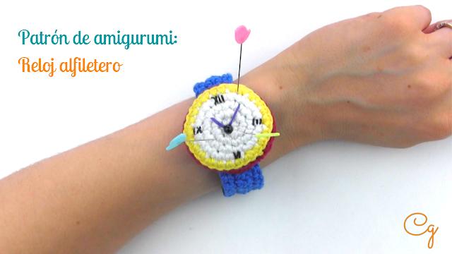 patrón-amigurumi-gratis-reloj-alfiletero-ganchillo-tutorial