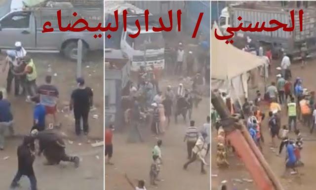 """فيديو خطير...""""فوضى"""" بسوق الماشية بالدار البيضاء ومواطنون يستولون بالقوة على الأكباش"""