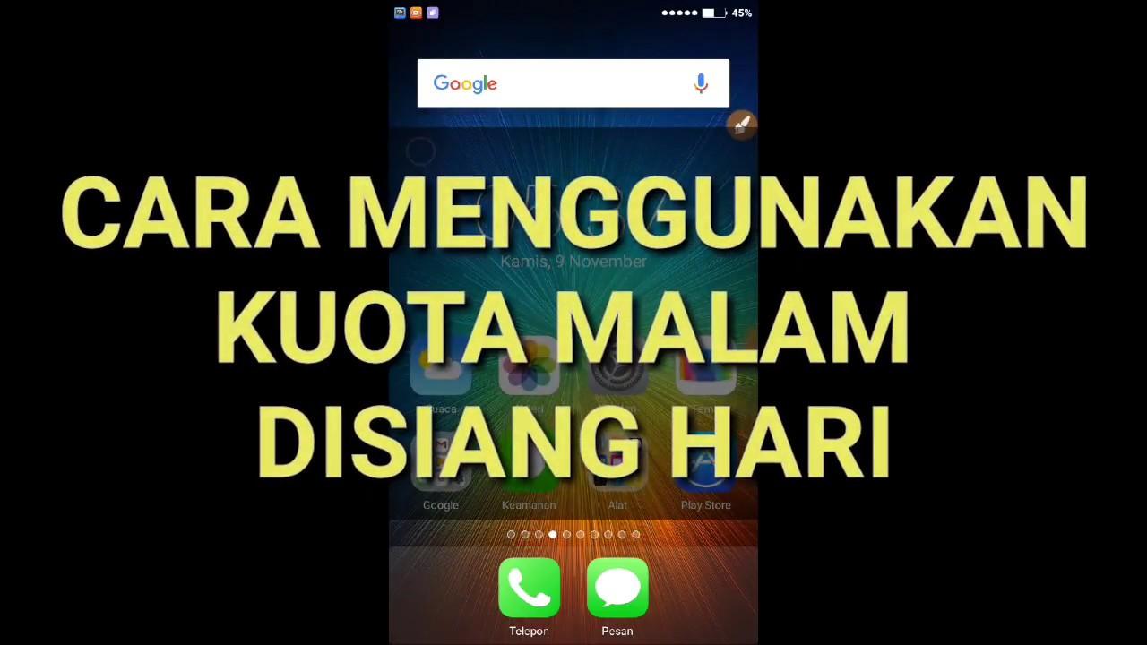 Cara Mengubah Kuota Malam Menjadi 24 Jam Indosat Telkomsel Terbaru