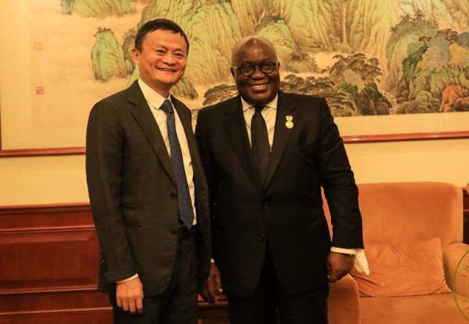 Akufo-Addo meets Alibaba co-founder Mr Jack Ma in China