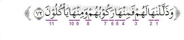 Hukum Tajwid Surat Yasin Ayat 72