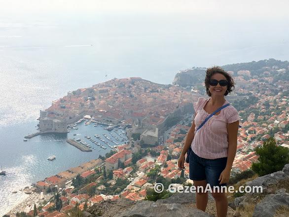 Dubrovnik manzarası, Srj tepesi Hırvatistan