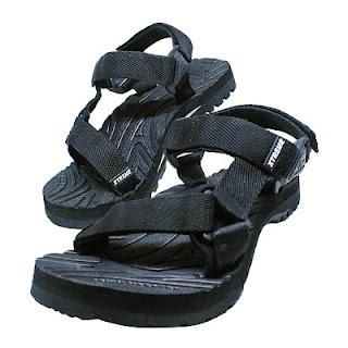 sandal gunung warna hitam murah terbaru
