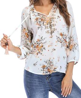 spring, summer, ljeto, proljeće, blouse, bluza, majica, shirt, top, floral, print, cvjetni uzorak