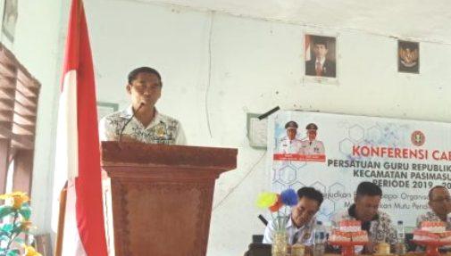 Buka Konferensi PGRI, di Pasimasunggu, Ini Harapan Kadis Dikbud