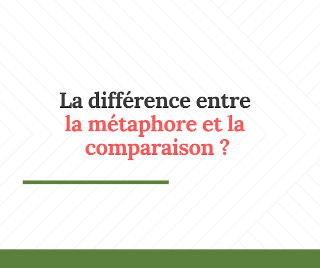La différence entre la métaphore et la  comparaison
