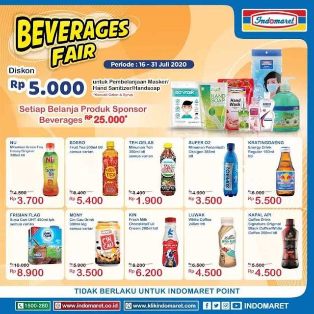 promo beverage fair dari Indomaret untuk produk makanan dan minuman edisi 16-31 Juli 2020