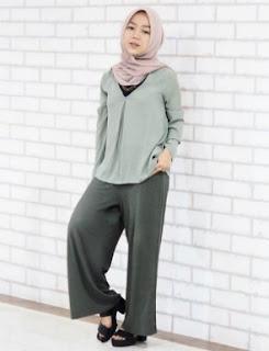 Contoh Padu Padan Celana Kulot Muslimah Yang Direkomendasikan Oleh Desainer