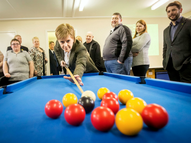 nicola sturgeon blackball pool player