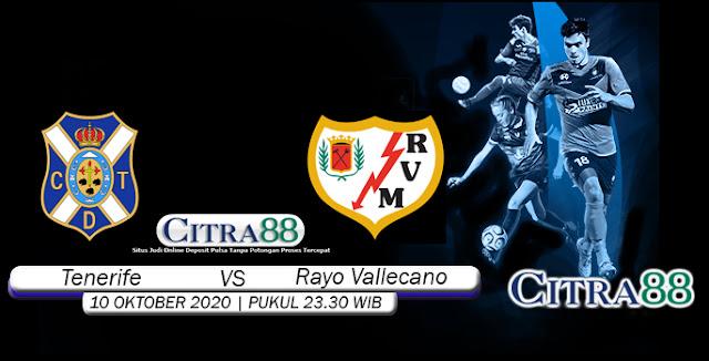 Prediksi Bola Tenerife Vs Rayo Vallecano 10 Oktober 2020