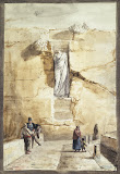 Antique Statue in Rabbato on the Island of Gozo by Jean-Pierre-Laurent Houel - History Drawings from Hermitage Museum