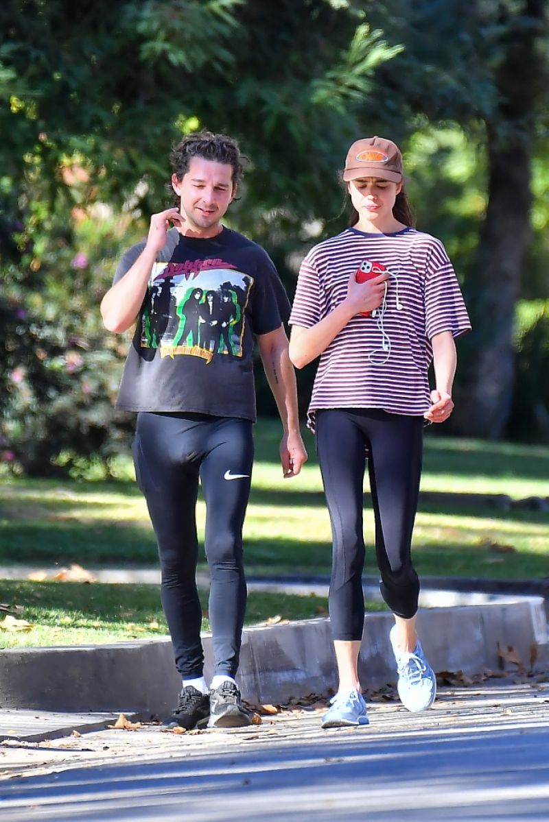Margaret Qualley and Shia LaBeouf Out Jogging in Pasadena 20 Dec-2020