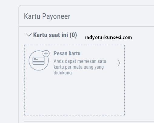 cara order kartu payoneer