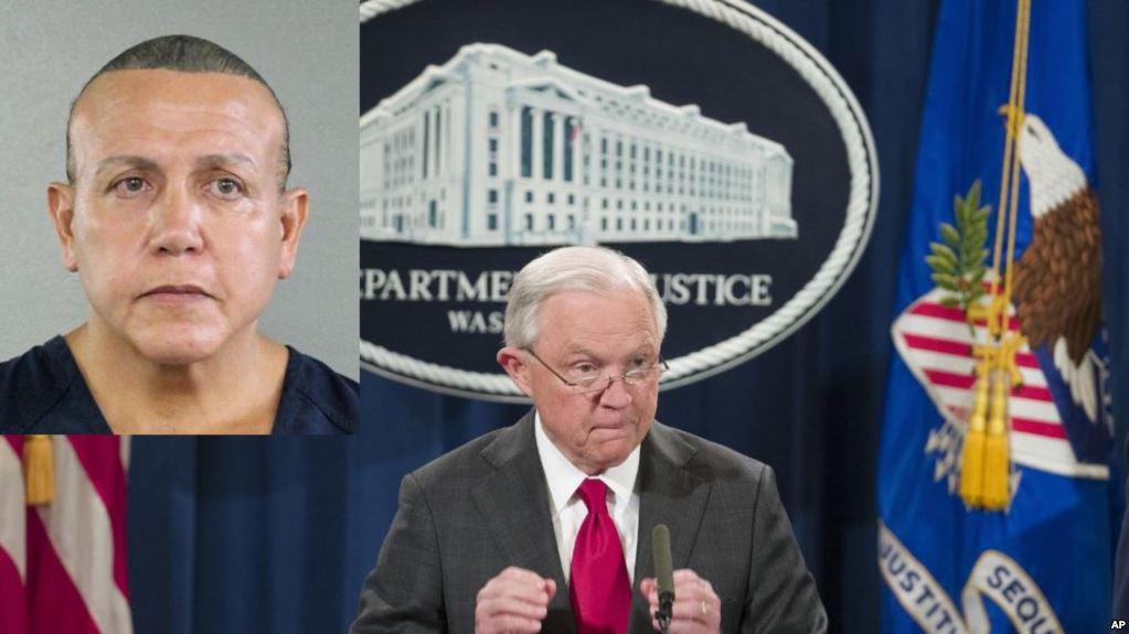 Cesar Sayoc enfrenta cargos por cinco delitos, explicó el fiscal general Jeff Sessions / AP
