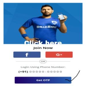 BalleBaazi App me Resigster Kaise kare