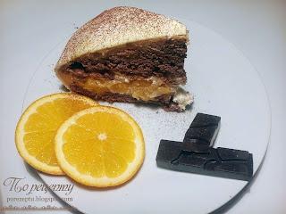 Торт с орехами и апельсинами