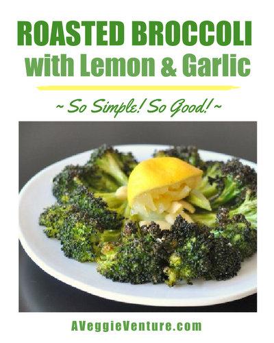 Roasted Broccoli with Lemon & Garlic, so simple, so good ♥ AVeggieVenture.com