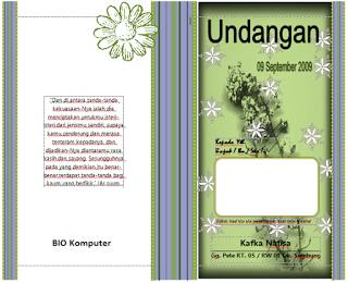 hijau pernikahan undangan cdr Desain Pernikahan  Gratis Undangan Download Undangan