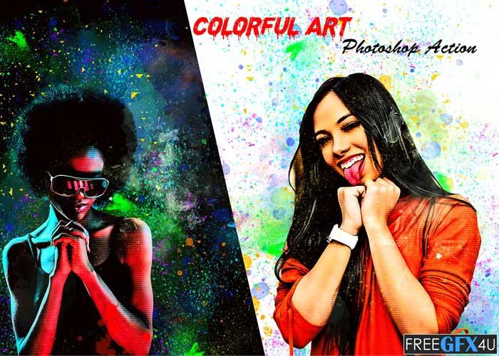 Colorful Art Photoshop Action