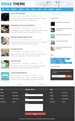 Vikka Theme Fast Loading Blogger Template