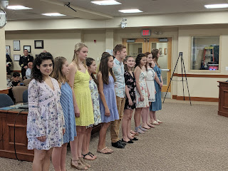 FSPA's Electric Youth sang a song as part of their annual visit