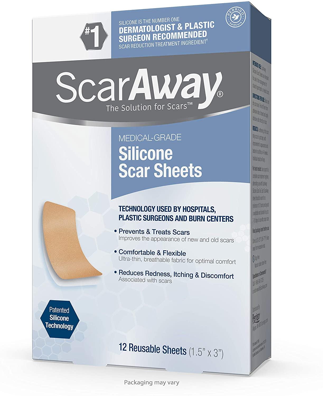Miếng dán silicon trị sẹo thâm ScarAway.