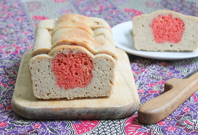 Food Lust People Love: Cinnamon apple surprise bread is made with two batters, one cinnamon and one flavored with applesauce. Together they make a fun and tasty sweet loaf!