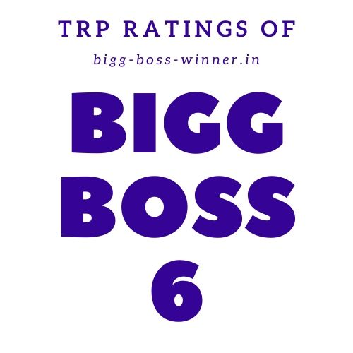 Bigg Boss 6 TRP Ratings