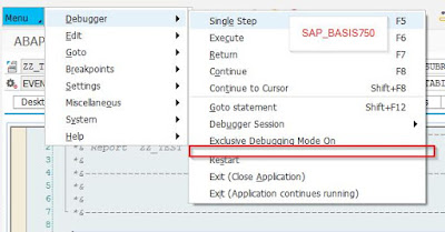 "About ""classic"" and Standard ABAP-Debugger (""Display List""-Option)"