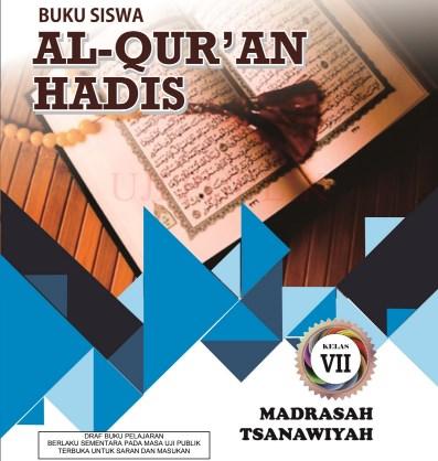 Buku Al Quran Hadis MTs Kelas 7 - KMA 183 2019