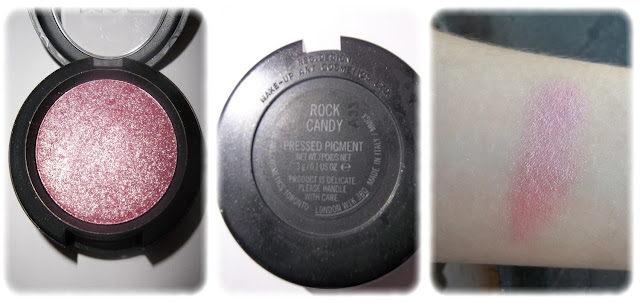 Swatch Pigment Pressé Teinte Rock Candy - M.A.C.