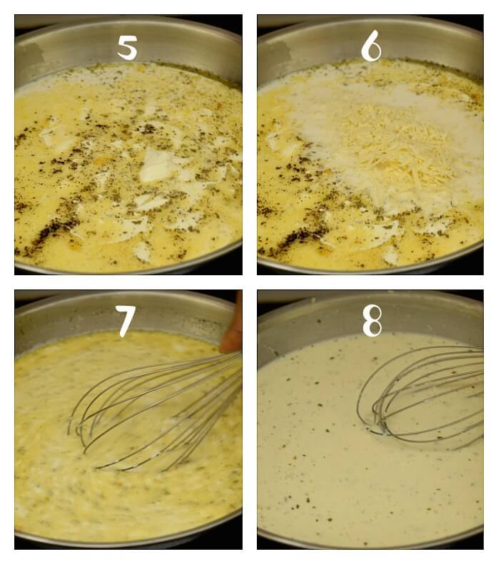 steps to make best easy chicken alfredo sauce