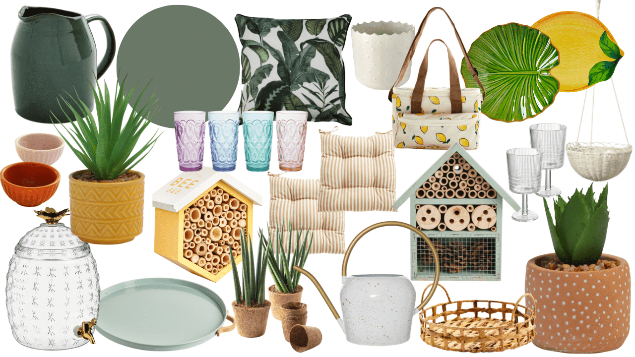 Update your garden backyard patio on a budget for Summer 2021. From patio furniture to lights and dining homeware, create a stylish outdoor space