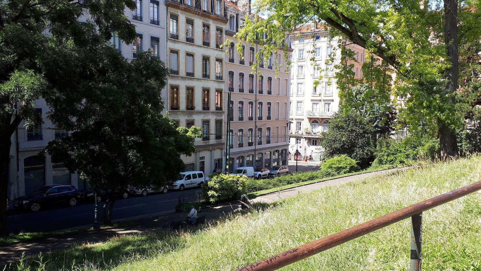 Les pentes de la Croix-Rousse à Lyon