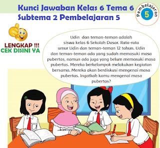 Kunci Jawaban Tematik Kelas 6 Tema 6 Subtema 2 Pembelajaran 5 www.simplenews.me