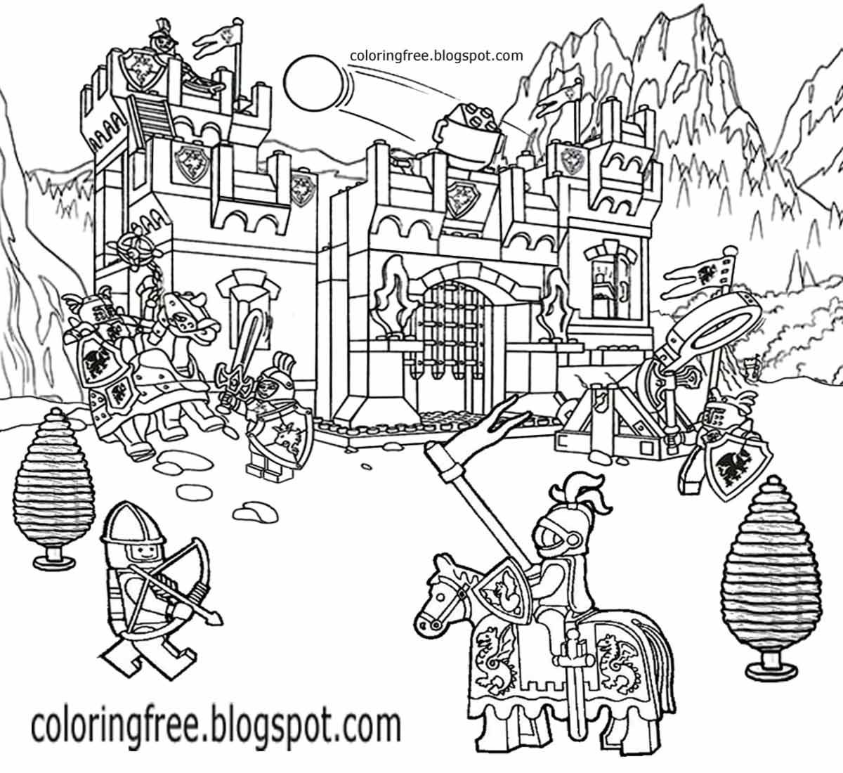 Lego Castle Coloring Pages - Eskayalitim
