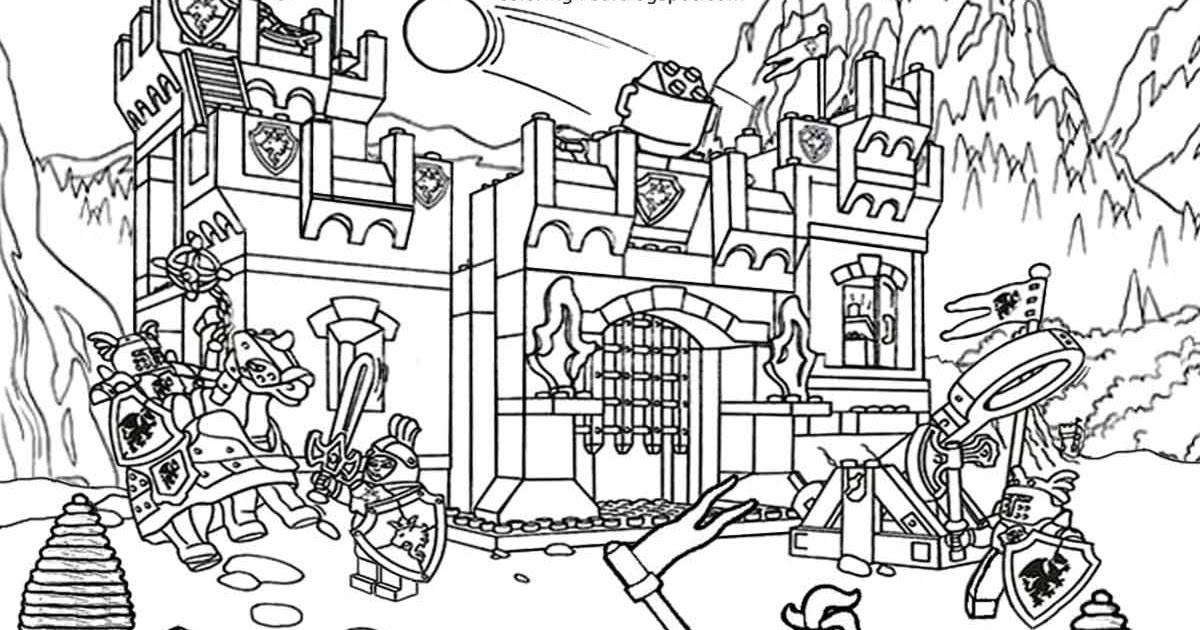 Printable Lego City Coloring Pages For Kids Clipart Activities ...