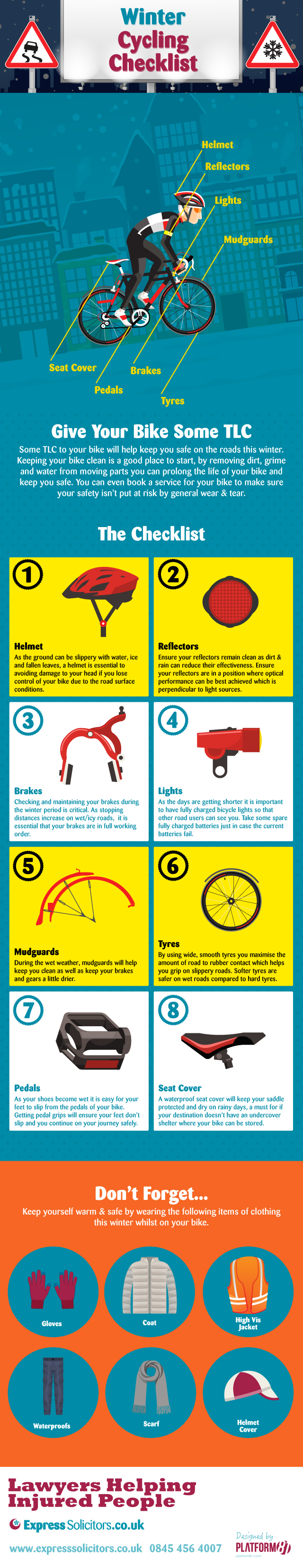 Winter Cycling Checklist #infographic #Winter #Cycling #Checklist