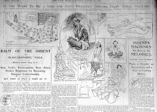 Photo of March 27, 1898 New York Herald article about yoga