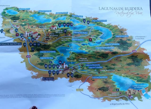 Mapa las Lagunas de Ruidera