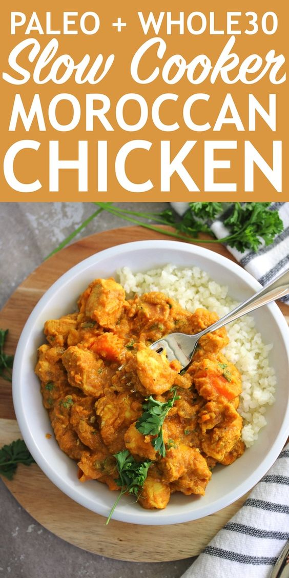 Slow Cooker Moroccan Chicken | PALEO, Whole30