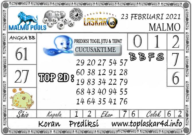 Prediksi Togel MALMO LASKAR4D 23 FEBRUARI 2021