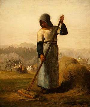 Жан Франсуа Милле - Женщина с граблями. 1857