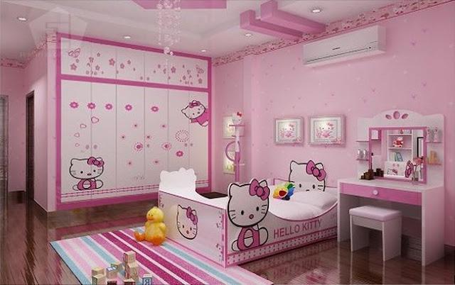 Trang tri phong ngu Hello Kitty dep 05