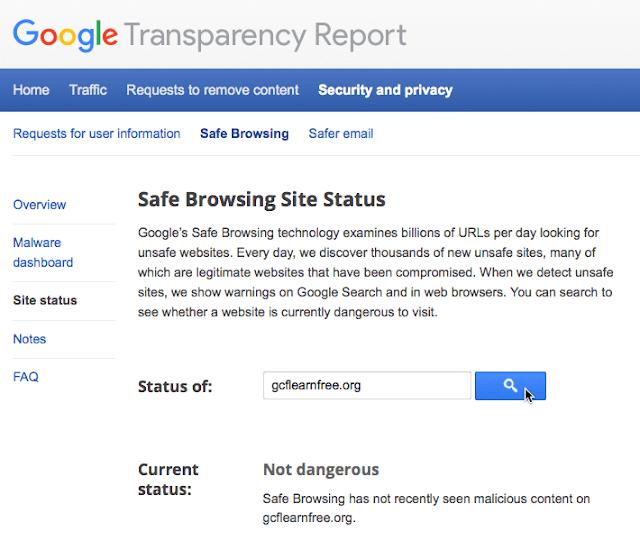 جوجل التصفح الآمن