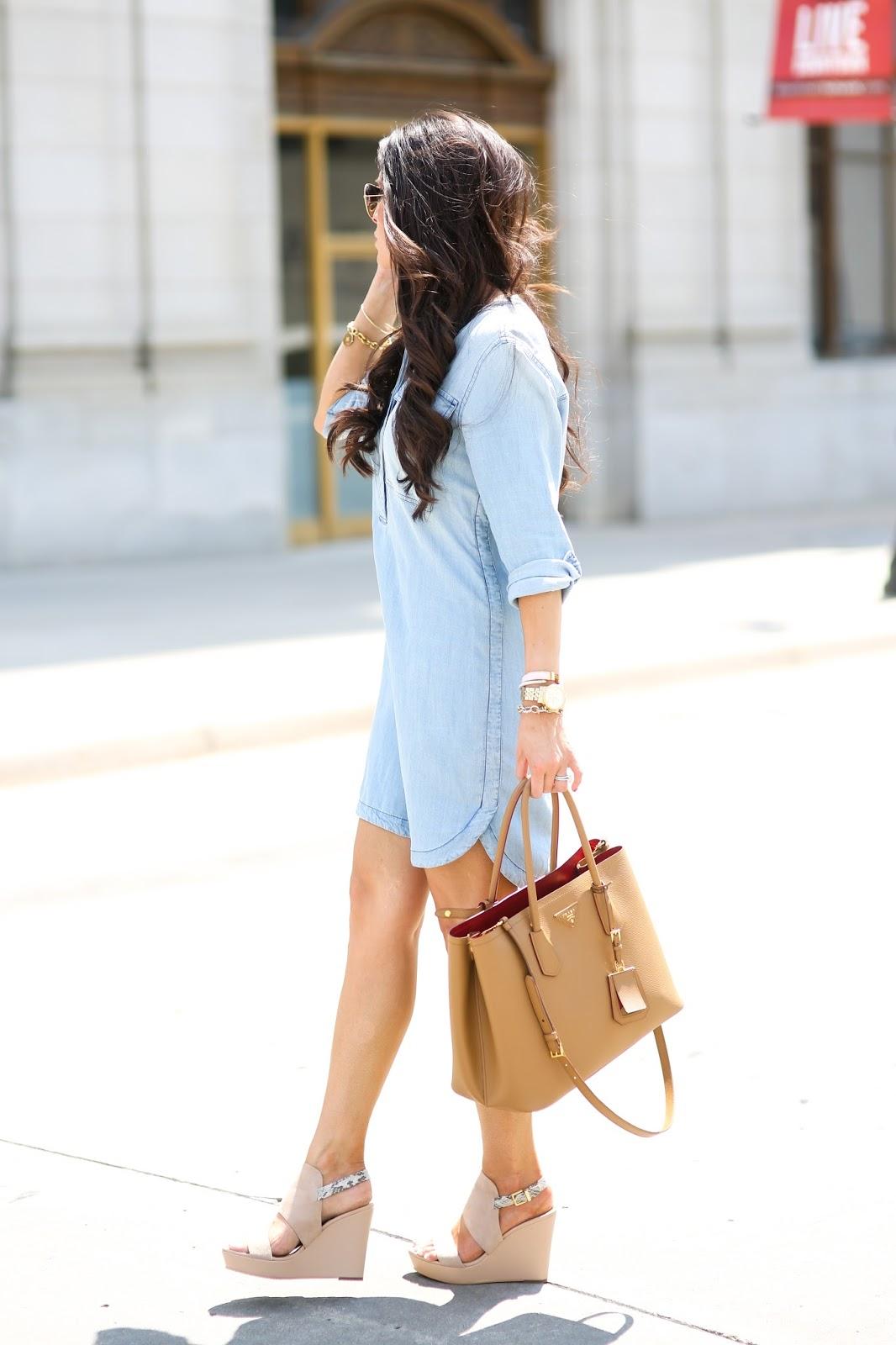add210e671 Chambray Shirt Dress