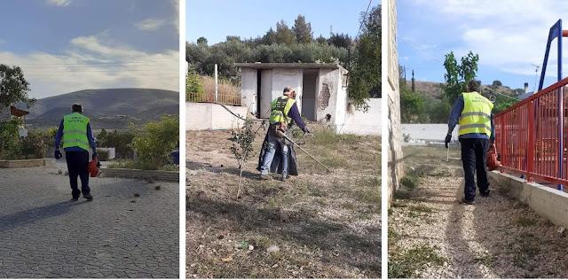 Δήμος Ναυπλιέων: Εργασίες καθαριότητας σε Αγία Τριάδα και Μάνεση