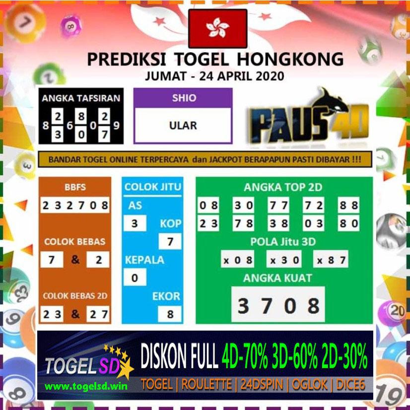 Prediksi HK 24 April 2020 - Prediksi Togel SD