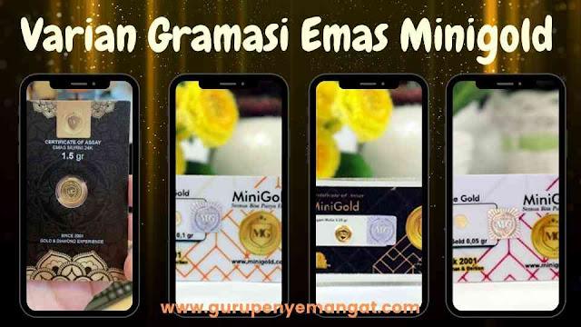 Varian Gramasi Emas Minigold