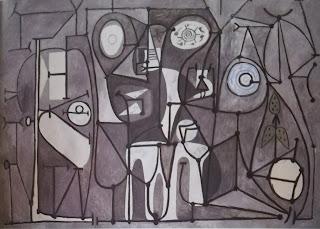 Пикассо чёрно-белая картина